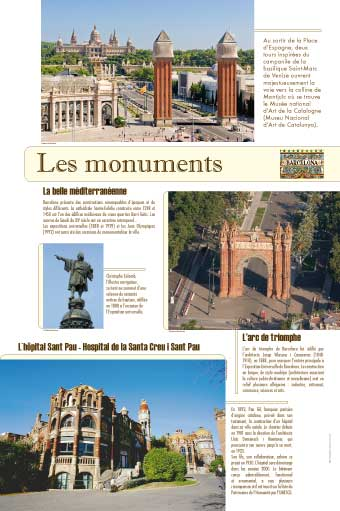 exposition barcelone les monuments