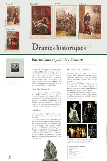 Exposition Shakespeare Drames historiques
